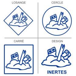 Sticker signalétique recyclage matériaux inertes
