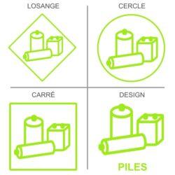 Sticker recyclage des piles