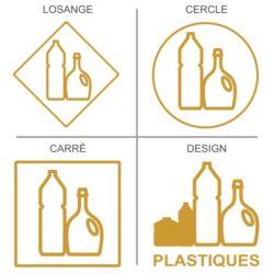 Sticker recyclage des plastiques