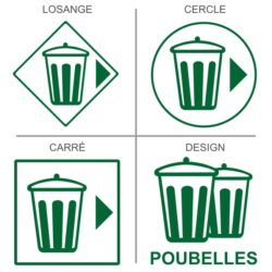 Sticker poubelle recyclage