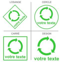 Sticker recyclage à la carte