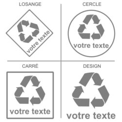 Sticker recyclage personnalisé