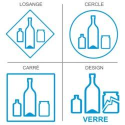 Sticker recyclage du verre