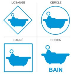 Sticker salle de bain, signalétique pour les sanitaires