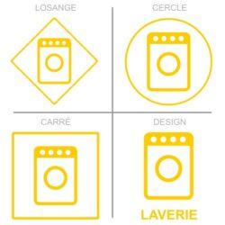 Sticker service laverie