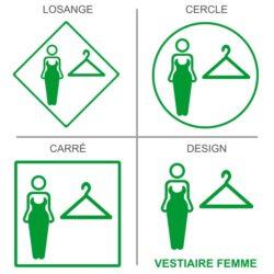 Sticker vestiaires femmes