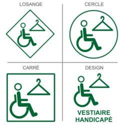 Sticker vestiaires handicapés