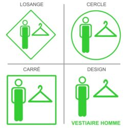 Sticker vestiaires hommess