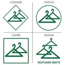 Sticker vestiaires mixtes