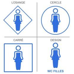 Sticker toilettes et wc enfants filles