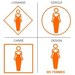 Sticker toilettes et WC femmes