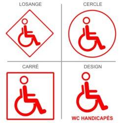Sticker toilettes handicapés