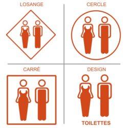 Stickers toilettes mixtes
