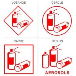 Sticker recyclage bombes aérosols