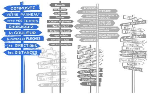 Panneaux signalétiques personnalisés